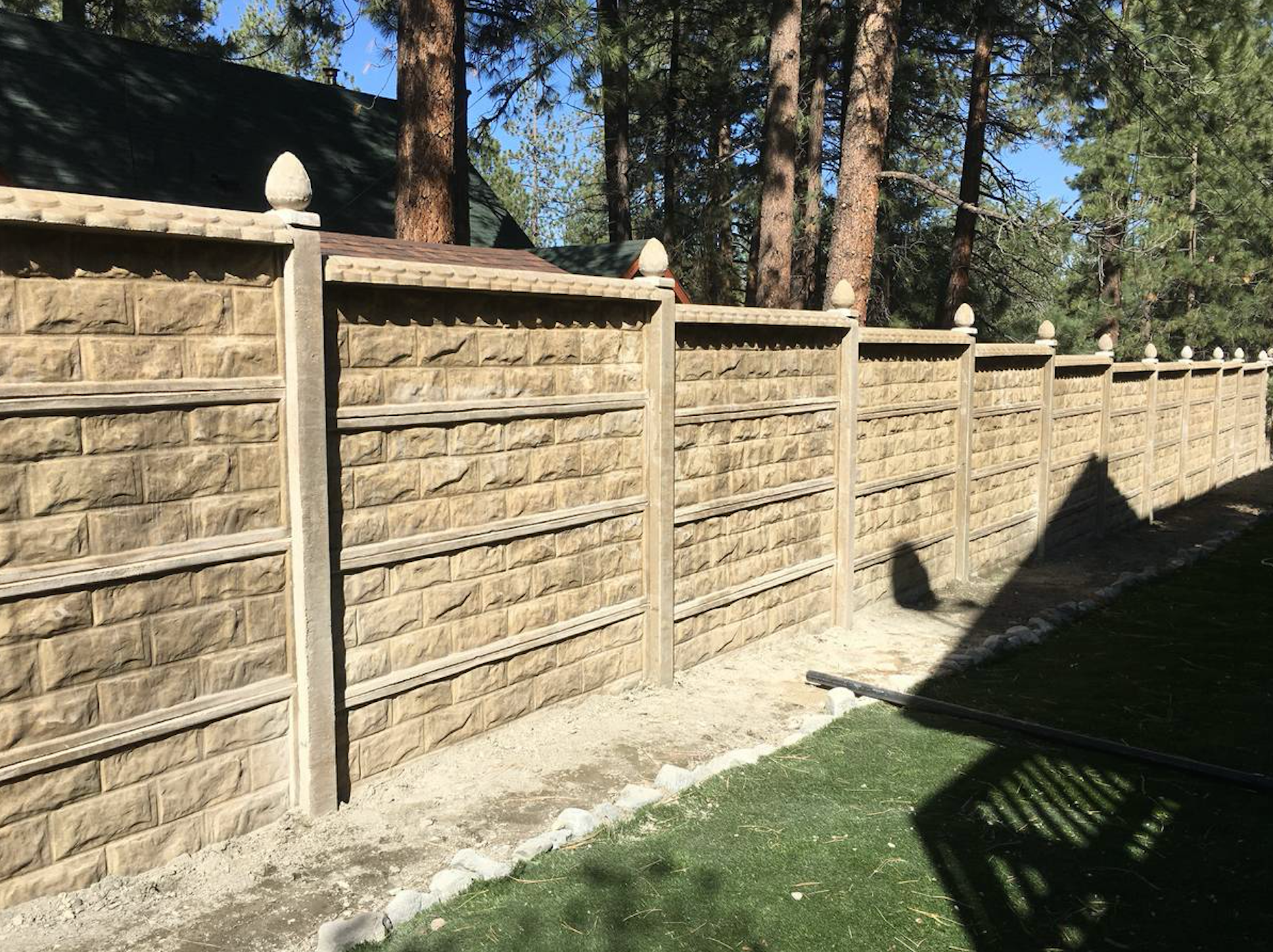 Prefabricated concrete walls fences stack wall