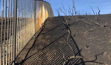Fireproof fencing