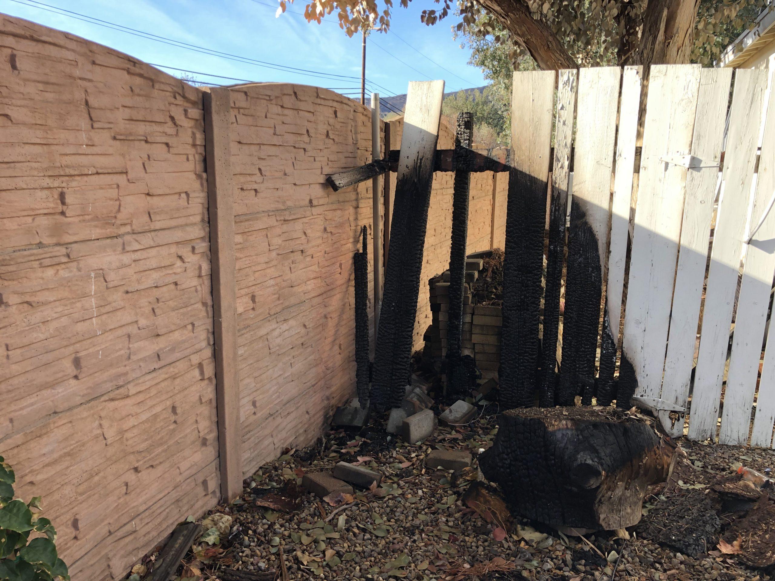 Fireproof fences