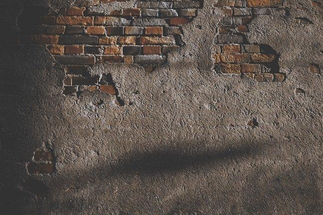 A corroding wall
